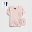 Gap女幼童 布萊納系列 甜美荷葉邊短袖T恤 683403-粉色