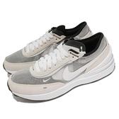 Nike 休閒鞋 Waffle One GS 灰 白 麂皮 小Sacai 平民版 女鞋 大童鞋 百搭款【ACS】 DC0481-100