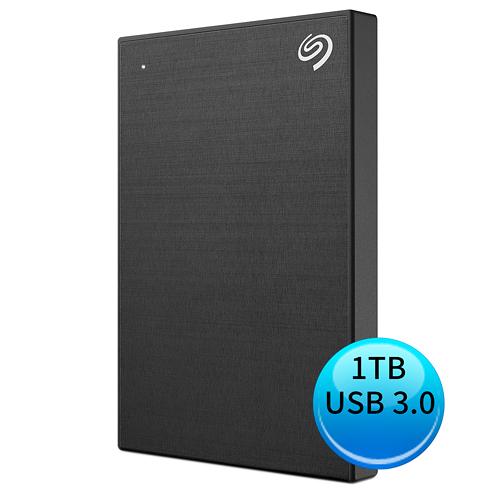 (2019新款)Seagate Backup Plus Slim 1TB USB3.0 2.5吋 外接硬碟 極夜黑 STHN1000400
