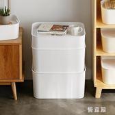 收納箱帶塑料蓋衣服收納盒玩具整理儲物箱子衣柜收納 QG2695『優童屋』
