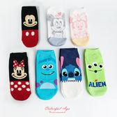 襪子 韓製正版迪士尼系列短襪 柒彩年代【NRS3】
