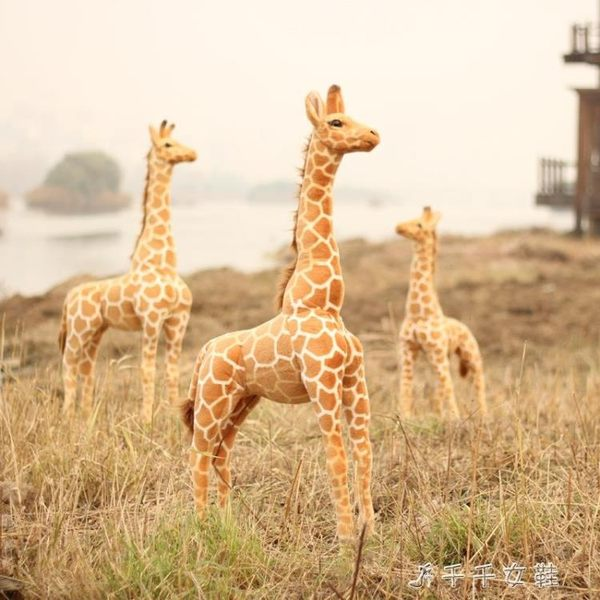 長頸鹿毛絨玩具公仔超大號仿真動物抱枕擺件布娃娃兒童生日禮物igo「千千女鞋」
