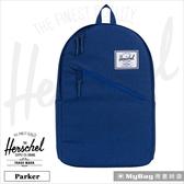 Herschel 後背包 單寧布藍 斜拉鍊設計 15吋電腦後背包 (新版) Parker-1335 MyBag得意時袋
