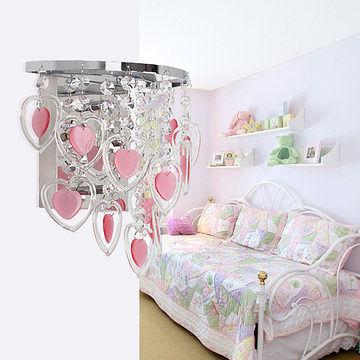 客廳燈具 溫馨現代水晶玻璃壁燈