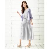 春夏7折[H2O]多層次蛋糕裙附本布綁帶長洋裝 - 黑/灰/淺紫色 #0684008