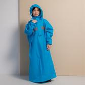 君邁雨衣,藏衫罩背背款,兒童背包太空連身式風雨衣,藍