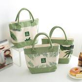 【全館】現折200正韓加大飯盒包手提包防水便當包飯盒袋便當盒帶飯包帆布保溫袋子
