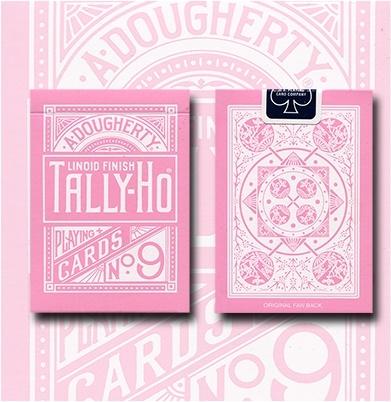 TALLY-HO PINK ROSE  反粉紅扇背 撲克牌