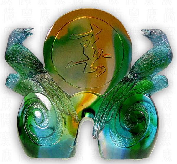 鹿港窯~琉璃擺飾【喜相隨】可加購水晶底座◆附精美包裝◆附古法製作珍藏保證卡◆免運費送到家