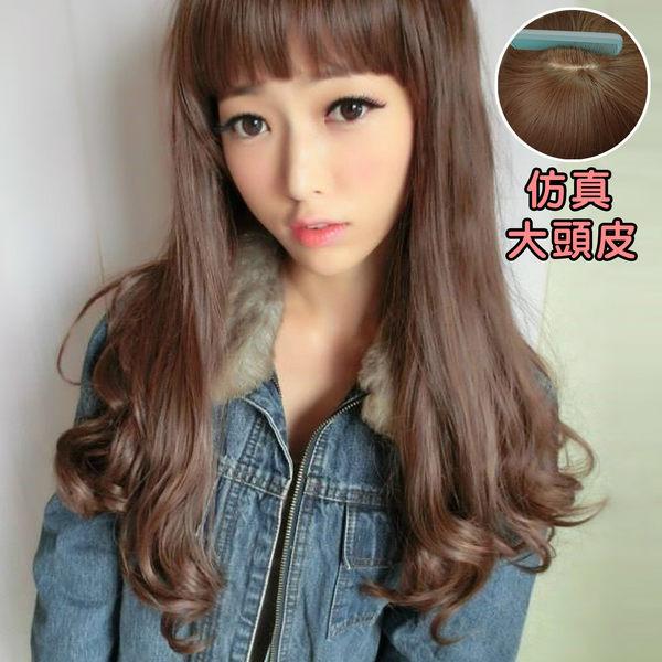 高仿真大頭皮~可愛齊瀏海捲捲梨花頭(加大頭皮)☆【MA120】雙兒網
