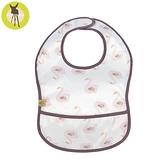 德國Lassig-寶寶防水袋型圍兜1入-粉色天鵝