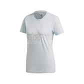 adidas 短袖T恤 MH BOS Tee 藍 白 女款 短T 基本款 運動休閒 【ACS】 FQ3241