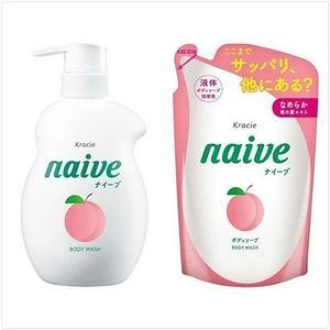 Naive 娜艾菩植物沐浴乳-保濕桃葉組(530ml+380ml*2)
