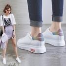 增高鞋-小白鞋女2019春季新款單鞋百搭厚底顯瘦內增高板鞋網紅春款休閒鞋【雙十降價】