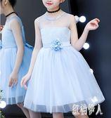 女童公主裙夏背心童裝無袖蓬蓬紗洋裝禮服夏裝超洋氣花童連身裙夏 aj14387『紅袖伊人』