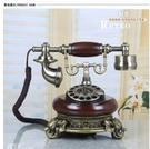 幸福居*金屬旋轉撥盤/歐式仿古電話機/複古固話電話座機/機械鈴聲