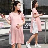 孕婦夏裝連身裙2018新款時尚寬鬆孕婦純棉裙