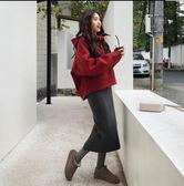 中大尺碼 時尚穿搭 寬鬆 9089/秋新款减齡衛衣套裝寬鬆藏肉顯瘦兩件套R15 .1號公館