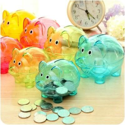 【滿499折100】WaBao 小豬透明儲錢桶 小豬公 存錢桶 (小號) =D09091=