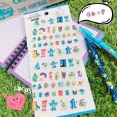日本正版 迪士尼貼紙 怪獸大學 毛怪大眼仔 DIY貼紙 日記貼紙 相本裝飾貼紙 COCOS DR040