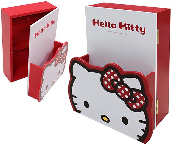【震撼精品百貨】Hello Kitty 凱蒂貓~HELLO KITTY造型信插鑰匙箱-紅#52500