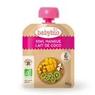 BABYBIO 有機奇異果芒果椰奶纖果泥90g-法國原裝進口6個月以上嬰幼兒專屬副食品
