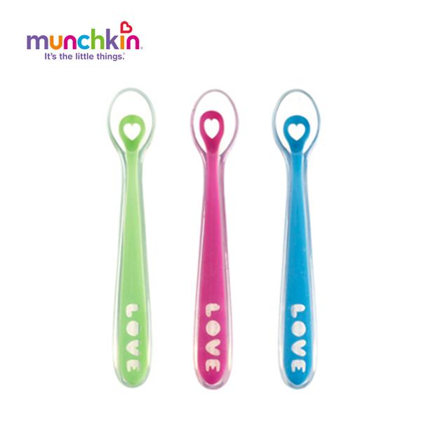 【Munchkin】矽膠湯匙2入