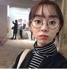 EASON SHOP(GU0101)韓國萬年經典必備復古條紋寬鬆顯瘦高領長袖內搭衫長袖T恤棉T女黑色白色