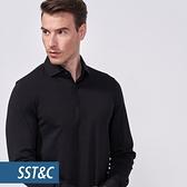 SST&C 男裝 黑色POLO長衫 | 0912010003