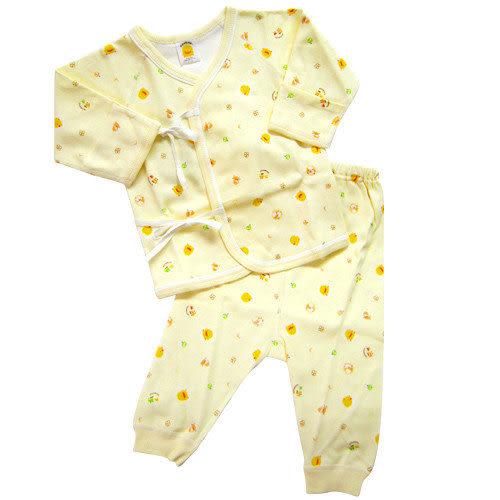 【奇買親子購物網】黃色小鴨綿羊版肚衣套裝0~3M/3~6M(藍/粉/黃)