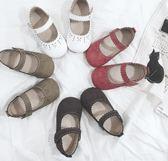 兒童復古單鞋休閒鞋時尚防滑小皮鞋