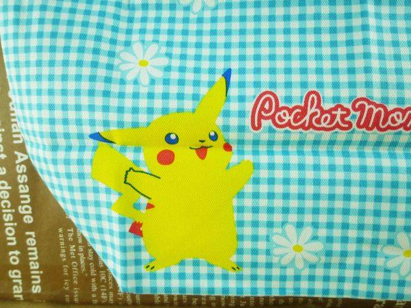 【震撼精品百貨】神奇寶貝_Pokemon~束口袋-皮卡丘(藍格)