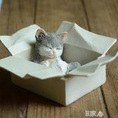 真自在創意小貓咪擺件仿真動物