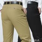 中年休閒褲男士春夏季新款男褲寬鬆直筒西褲商務長褲子純棉爸爸裝 探索先鋒