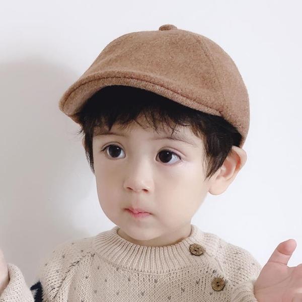 兒童遮陽帽 男潮時尚韓版貝雷帽寶寶帽子春秋遮陽鴨舌帽女童洋氣【快速出貨八折下殺】