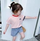 女童T恤 女童夏裝短袖T恤2020新款韓版洋氣兒童夏季純棉體恤小孩寬鬆上衣【快速出貨】