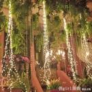 LED太陽能彩燈閃燈串燈ins滿天星燈樹枝星星燈裝飾創意銅線掛燈