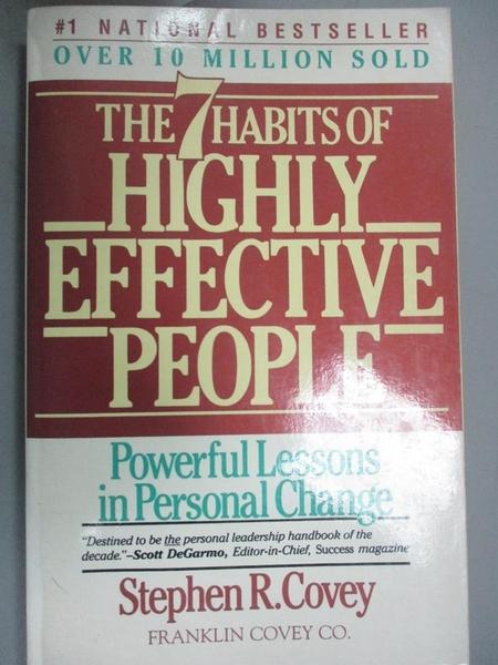 【書寶二手書T4/財經企管_IFV】The 7 Habits Of Highly Effective People_精平