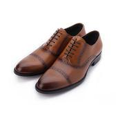 Meurieio Belliei 真皮雕花牛津紳士皮鞋 土黃 HX507-334 男鞋 鞋全家福