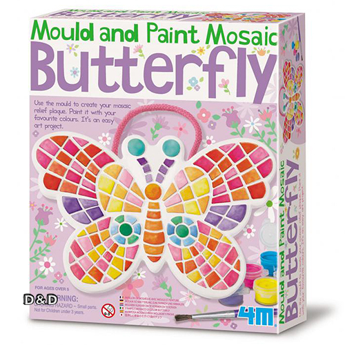 《4M美勞創作》馬賽克蝴蝶掛飾 Mould & Paint Mosaic Butterfly╭★ JOYBUS玩具百貨