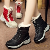 雪地靴女加絨保暖冬鞋棉靴戶外防水加厚棉鞋【繁星小鎮】