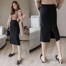 半身裙-加厚短款針織高腰顯瘦包臀一步打底秋冬新款女裝半身裙子女士 提拉米蘇