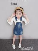 女童吊帶裙 女童秋裝洋裝1-3-5歲4兒童牛仔背帶裙寶寶夏季公主吊帶背心裙子