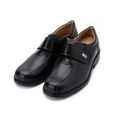 BONJO 牛皮方頭氣墊皮鞋 黑 男鞋
