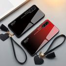 三星 Galaxy A30s 手機殼 玻璃鏡面防摔保護套 漸變時尚 個性簡約男女款 全包手機套 保護殼