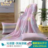 【Betrise那年花開】3M吸濕排汗專利天絲鋪棉涼被枕套三件組