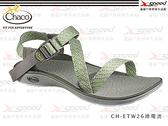 【速捷戶外】Chaco涼鞋 -  美國專業戶外休閒涼鞋 Mystic Sandal CH-ETW26女 (綠電流)