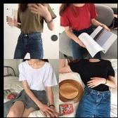 現貨+快速★短袖T恤 素面圓領短袖上衣★ifairies【47766】