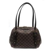 【台中米蘭站】全新品 Louis Vuitton Damier Rivington 肩背包-PM(N41157-咖)
