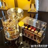 透明旋轉首飾盒頭繩盒發夾飾品耳環架子展示架釘手項鏈耳墜收納盒 『歐尼曼家具館』